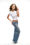 The beautiful girl in casual. I am the author of this photo Stock Images