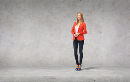 Beautiful girl in casual clothes on high heels Royalty Free Stock Image