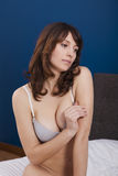Beautiful girl with casual lingerie Royalty Free Stock Photos
