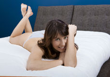 Beautiful girl with casual lingerie Royalty Free Stock Photography