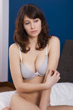 Beautiful girl with casual lingerie Stock Image