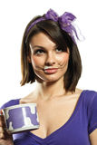 Beautiful girl with cat whiskers Stock Image