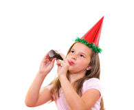 Beautiful Girl celebrates birthday. Royalty Free Stock Image