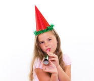 Beautiful Girl celebrates birthday. Royalty Free Stock Images