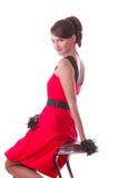 Beautiful girl on chair Stock Image