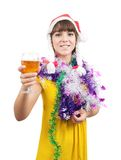 Beautiful girl with champagne Royalty Free Stock Photos
