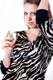 Beautiful girl with champagne Royalty Free Stock Image