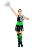 Beautiful girl cheerleader Stock Photo