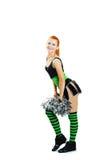 Beautiful girl cheerleader Stock Images
