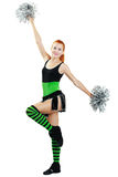 Beautiful girl cheerleader Royalty Free Stock Images