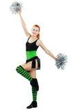 Beautiful girl cheerleader Royalty Free Stock Images