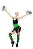 Beautiful girl cheerleader Royalty Free Stock Photos