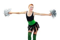 Beautiful girl cheerleader Stock Photography