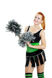 Beautiful girl cheerleader Royalty Free Stock Photos
