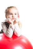Beautiful girl child and ball Stock Image