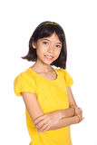 Beautiful girl of Chinese and European  parents Royalty Free Stock Photos