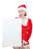 Beautiful Girl in Christmas costumes. Royalty Free Stock Photos