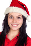 Beautiful girl with Christmas hat Stock Image