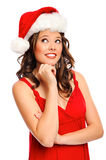 Beautiful girl with christmas hat Royalty Free Stock Photos