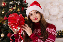 Beautiful girl with a Christmas mood Stock Photography