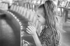 Beautiful girl at circus Stock Images