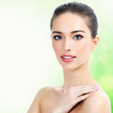 Beautiful girl with clean fresh skin Stock Images