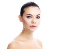 Beautiful girl with clean fresh skin stock photos