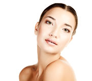 Beautiful girl with clean fresh skin Stock Photography