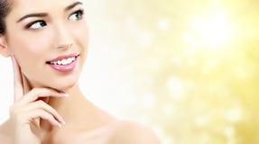 Beautiful girl with clean fresh skin Stock Photo