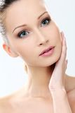 Beautiful girl with clean and perfect skin Stock Photo