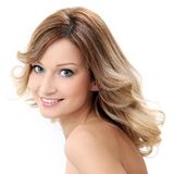 Beautiful girl with clean and perfect skin Stock Photos