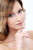 Beautiful girl with clean and perfect skin Royalty Free Stock Images