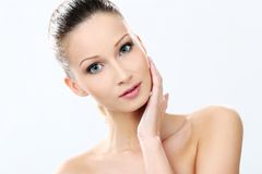 Beautiful girl with clean and perfect skin Stock Image