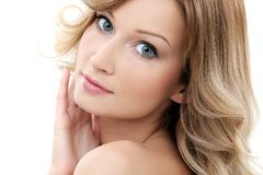 Beautiful girl with clean and perfect skin Royalty Free Stock Photo