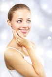 Beautiful girl with clean skin Royalty Free Stock Photos