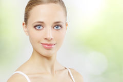 Beautiful girl with clean skin Royalty Free Stock Images