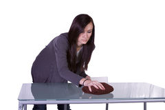 Beautiful Girl Cleaning Table Royalty Free Stock Photo