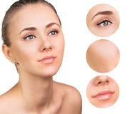 Beautiful girl with clear skin Royalty Free Stock Photos