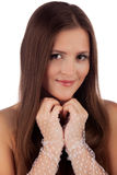 Beautiful girl in close up Royalty Free Stock Photo