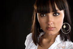 The beautiful girl close up Royalty Free Stock Photography