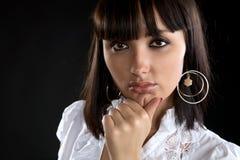 The beautiful girl close up Stock Image