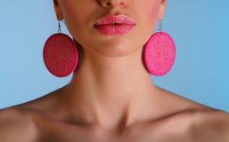 Beautiful girl - close up of lips Stock Photography