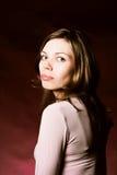Beautiful girl close up portrait Stock Photos