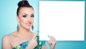 Beautiful girl. Close up portrait of a pretty girl with accessories stock photography