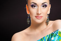 Beautiful girl. Close up portrait of a pretty girl with accessories royalty free stock images