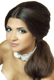Beautiful girl. Close up portrait of a pretty girl with accessories royalty free stock photography