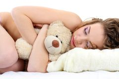 Beautiful girl close up sleeping Royalty Free Stock Images