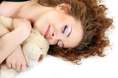 Beautiful girl close up sleeping Stock Image