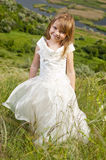 Beautiful girl in the clothes of bride Royalty Free Stock Images