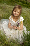 Beautiful girl in the clothes of bride Stock Photography